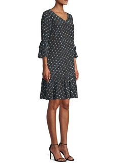 Lafayette 148 Anagrace Silk Print Dress