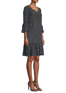 Lafayette 148 Anagrace Silk Print Dress