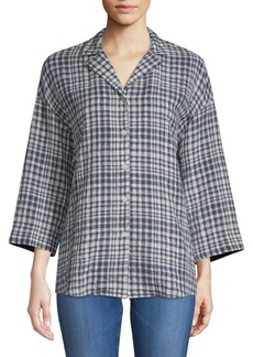 Lafayette 148 Analeigh Checkered Blouse
