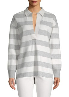 Lafayette 148 Antonia Striped High-Low Top