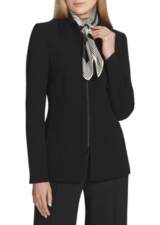 Lafayette 148 Aretha Finesse Crepe Zip-Front Jacket