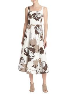 Lafayette 148 Arlene Floral Fit-&-Flare Dress