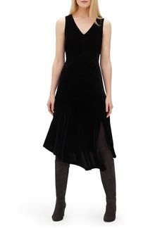 Lafayette 148 Ashlena Asymmetrical Velvet Dress