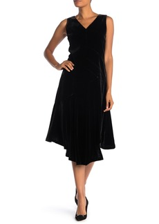 Lafayette 148 Ashlena Asymmetrical Velvet Dress