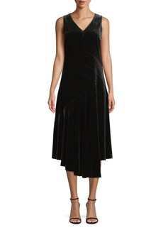 Lafayette 148 Ashlena Velvet A-Line Dress