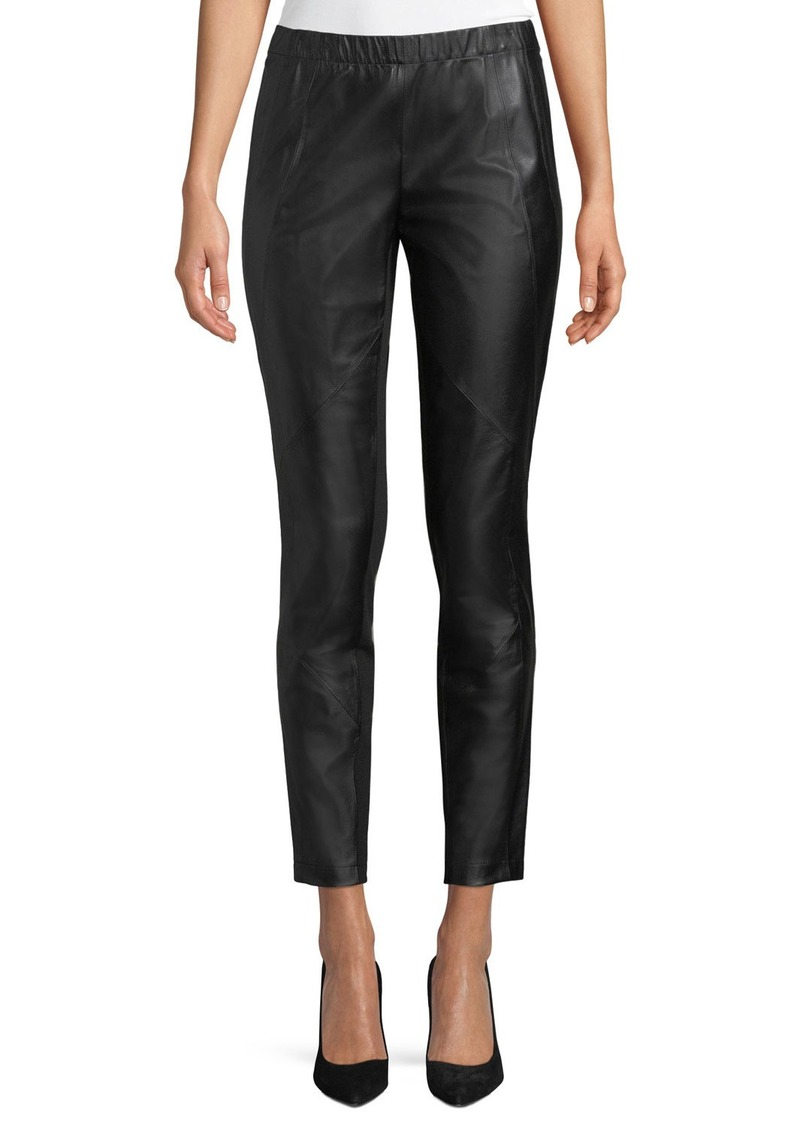 Lafayette 148 Astoria Leather Front Leggings