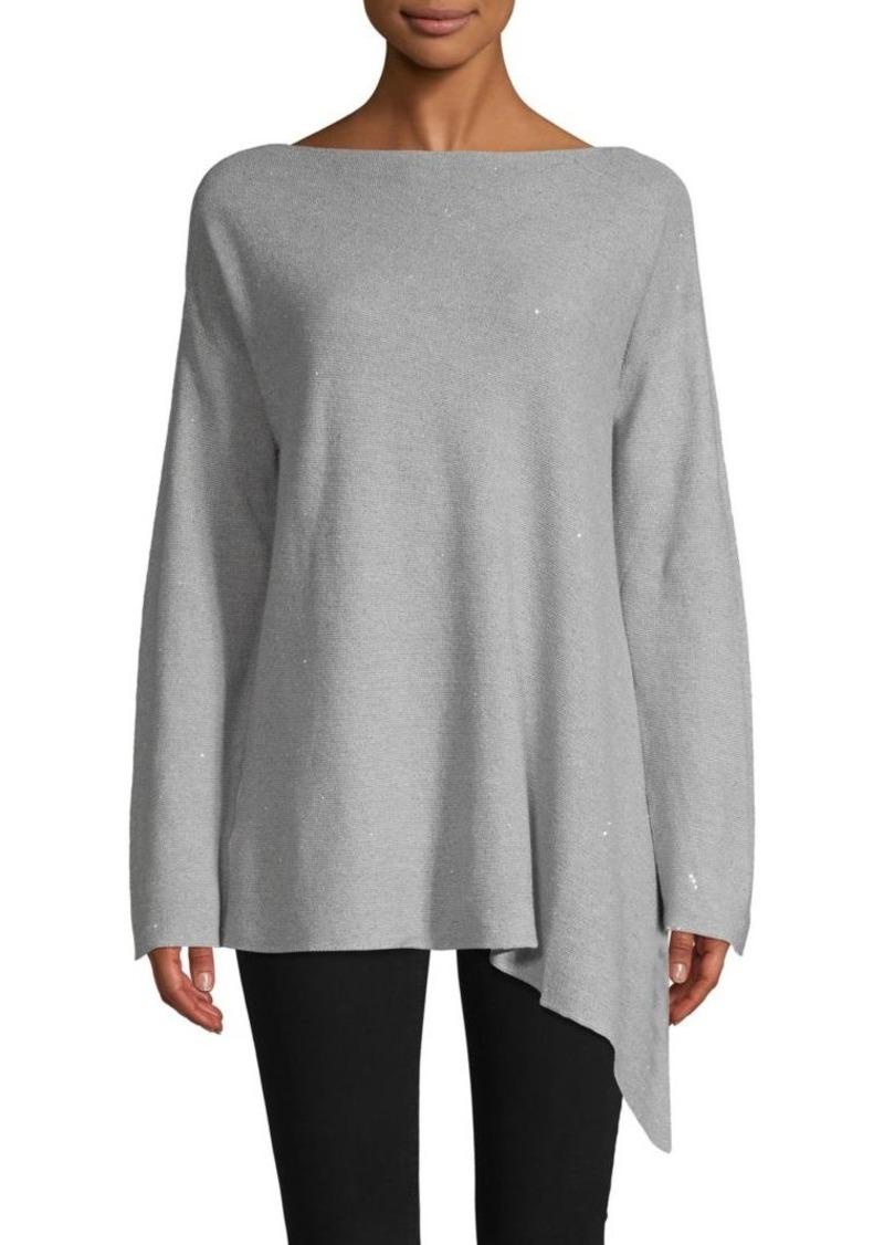 Lafayette 148 Asymmetric Cotton & Linen Blend Sweater