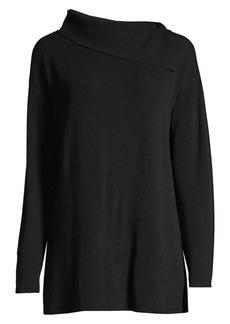 Lafayette 148 Asymmetric Long-Sleeve Sweater