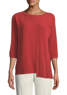 Lafayette 148 Asymmetric Mixed-Ribbed Sweater
