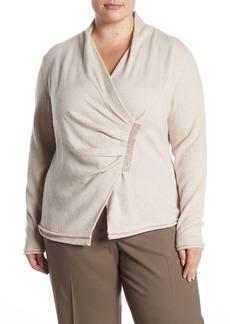 Lafayette 148 Asymmetrical Embellished Cashmere Sweater (Plus Size)