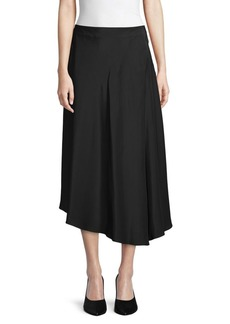 Lafayette 148 Asymmetrical Silk Midi Skirt