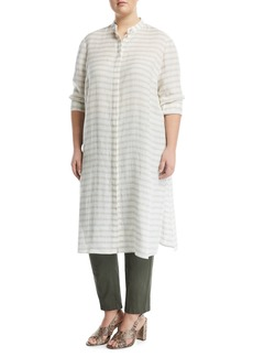 Auden Cardinal-Striped Stretch-Linen Tunic