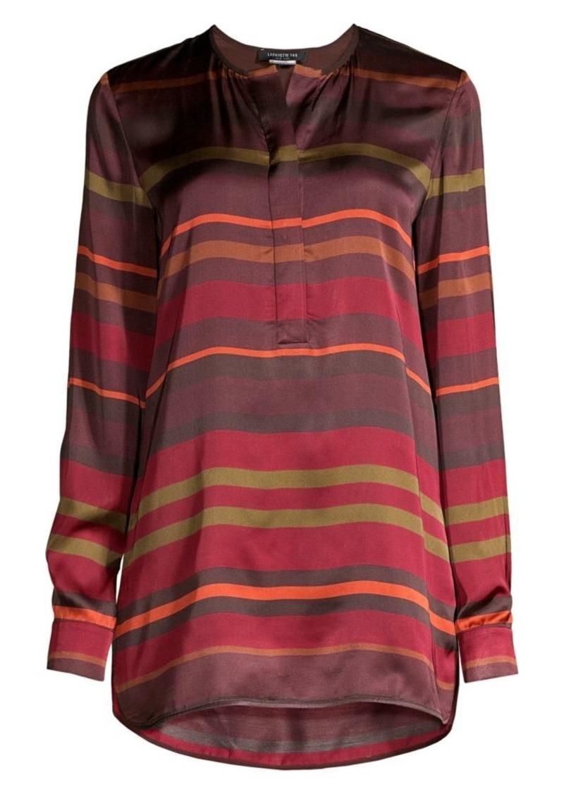 Lafayette 148 Autumn Stripe Tunic Blouse
