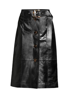 Lafayette 148 Avalon Leather Skirt