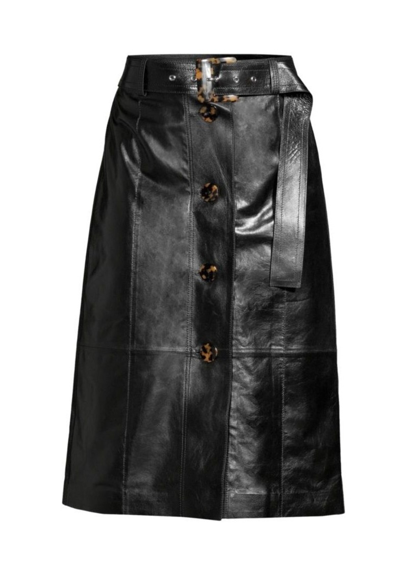 Lafayette 148 Avalon Leather Skirt