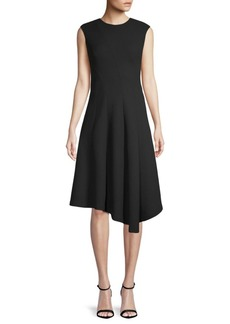 Lafayette 148 Aveena Asymmetric Wool Dress