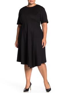 Lafayette 148 Aveena Wool Fit & Flare Ponte Dress (Plus Size)