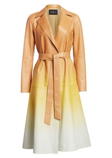 Lafayette 148 Avrielle Ombré Leather Trench Coat