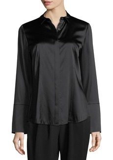 Lafayette 148 Azra Stretch-Satin Blouse