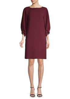 Lafayette 148 Balloon-Sleeve Shift Dress