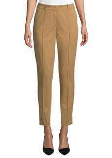 Lafayette 148 Bayard Slit-Cuff Slim Pants