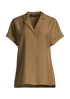 Lafayette 148 Beatrice Button-Up Silk Blouse