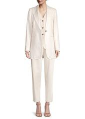 Lafayette 148 Beau Oversized Linen Blazer Jacket