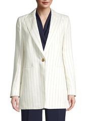 Lafayette 148 Beau Pinstripe Linen Blazer
