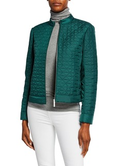 Lafayette 148 Becks Quilted Moto Jacket