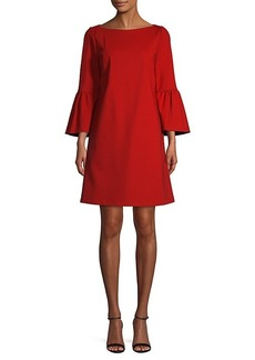 Lafayette 148 Bell-Sleeve Mini Dress