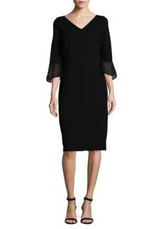 Lafayette 148 Bell-Sleeve Sheath Dress