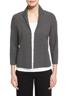 Lafayette 148 Bellene Striped 3/4-Sleeve Jacket