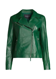Lafayette 148 Bernice Moto Leather Jacket