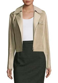 Lafayette 148 Bevin Leather Biker Jacket