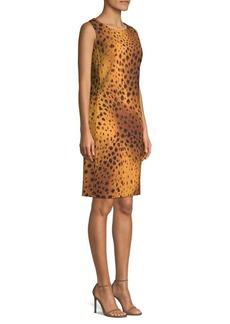 Lafayette 148 Bibana Reversible Cheetah Print Shift Dress