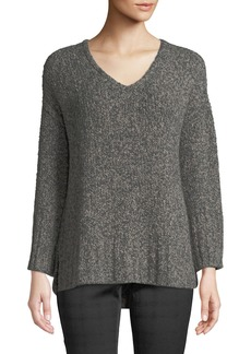 Lafayette 148 Bicolor Plated Oversize Cashmere Sweater