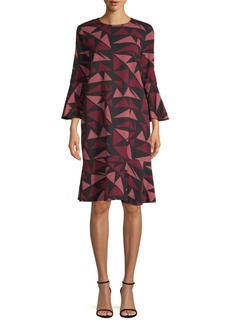 Lafayette 148 Billie Fluted Sleeve Dress