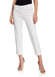 Lafayette 148 Bleecker Cropped Stretch-Cotton Pants