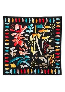 Lafayette 148 Blooming Eden Print Silk Scarf