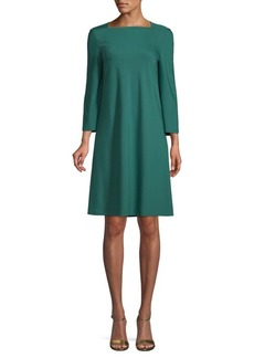 Lafayette 148 Boatneck Fit-&-Flare Dress