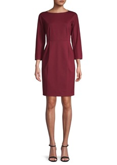 Lafayette 148 Boatneck Sheath Dress