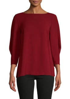 Lafayette 148 Boatneck Three-Quarter Sleeve Top
