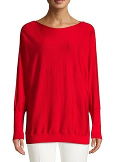 Lafayette 148 Boatneck Wool & Silk Dolman Sweater