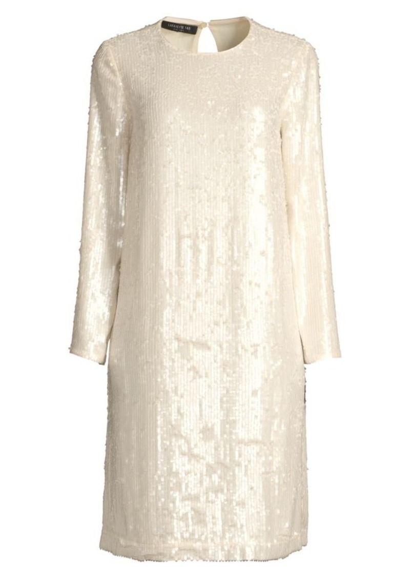 Lafayette 148 Bonnie Iridescent Sequin Shift Dress