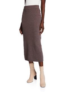 Lafayette 148 Boot Cashmere-Blend Midi Skirt