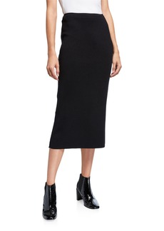 Lafayette 148 Boot Cashmere-Blend Pull-On Skirt
