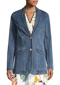 Lafayette 148 Boston Denim Blazer