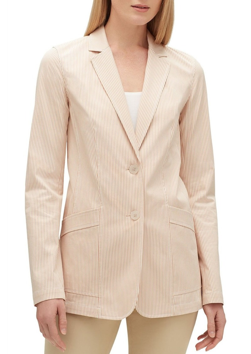 Lafayette 148 Boston Majestic Micro Stripe Two-Button Jacket
