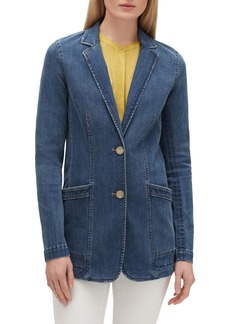 Lafayette 148 Boston Prestige Denim Two-Button Jacket