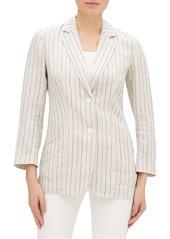 Lafayette 148 Boston Sundance Stripe Button-Front Jacket